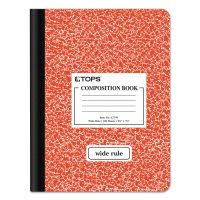 TOPS Composition Book w/Hard Cover, Legal/Wide, 9 3/4 x 7 1/2, White, 100 Sheets TOP63794