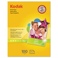 Kodak Photo Paper, 6.5 mil, Glossy, 8-1/2 x 11, 100 Sheets/Pack KOD8209017