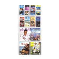 Reveal 12-Pocket Plastic Literature Display Rack SAF5609CL
