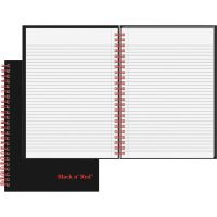 Black n' Red Twinwire Hardcover Notebook, Legal Rule, 8 1/4 x 5 7/8, White, 70 Sheets JDKL67000