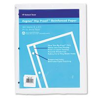 National Rip Proof 20-lb, Reinforced Filler Paper, Unruled, 11 x 8-1/2, WE, 100 Sheets/Pk RED20121