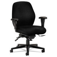 HON 7800 Series High-Performance Mid-Back Task Chair, Tectonic Black HON7828NT10T