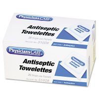PhysiciansCare by First Aid Only First Aid Antiseptic Towelettes, 25/Box FAO51028