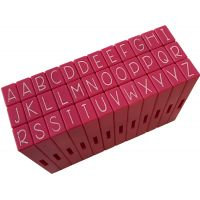Pink & Main Curvy Girl Font Stamp Set 36pcs NOTM074251
