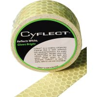 """Miller's Creek Honeycomb Safety Tape, Fluorescent Green, 1 1/2""""w x 5' ft, 1 Roll MLE151831"""