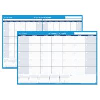 AT-A-GLANCE 30/60-Day Undated Horizontal Erasable Wall Planner, 48 x 32, White/Blue, AAGPM33328