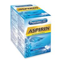 PhysiciansCare Aspirin Medication, Two-Pack, 50 Packs/Box ACM90014