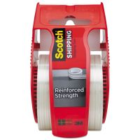 """Scotch Reinforced Shipping and Strapping Tape w/Dispenser, 2"""" x 10yds, 1 1/2"""" Core MMM50"""