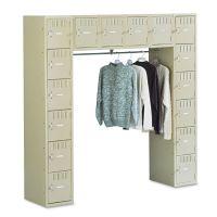 Tennsco Sixteen Box Compartments & Coat Bar, 72w x 18d x 72h, Sand TNNSRS721872ASD