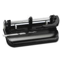 """Swingline 32-Sheet Lever Handle Two-to-Seven-Hole Punch, 9/32"""" Holes, Black SWI74350"""