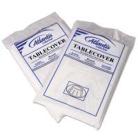 Plastic Table Cover, 84dia, White, 12/Carton ATL2TCW84