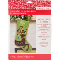 Ornate Deer Stocking Felt Applique Kit NOTM053204