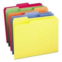Smead File Folders, 1/3 Cut Top Tab, Letter, Bright Assorted Colors, 100/Box SMD11943