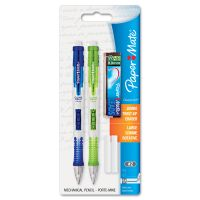 Paper Mate Clear Point Mechanical Pencil Starter Set, 0.9 mm, Lime Green, Royal Blue, 2/Set PAP1759214