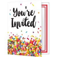 Sprinkles Foldover Invitations 8/Pkg NOTM446748