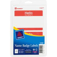 """Avery """"Hello my name is"""" Adhesive Name Tags  AVE5140"""