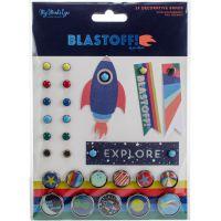 Blastoff Decorative Brads 24/Pkg NOTM361572