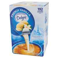 International Delight Flavored Liquid Non-Dairy Coffee Creamer, French Vanilla, 0.4375 oz Cups, 192/CT ITD827981