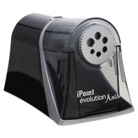 Westcott iPoint Evolution Axis Pencil Sharpener, Black/Silver, 5w x 7 1/2 d x 7 1/4h ACM15509