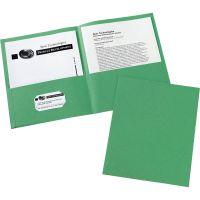 Avery Two-Pocket Folder, 40-Sheet Capacity, Green, 25/Box AVE47987
