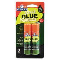 Elmer's School Glue Naturals, Clear, 0.21 oz Stick, 2 per Pack EPIE5044