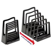 Avery Adjustable File Rack, Five Sections, 8 x 10 1/2 x 11 1/2, Black AVE73523