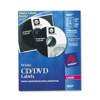 Avery Laser CD Labels, Matte White, 250/Pack AVE5697