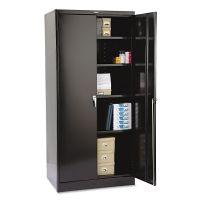 "Tennsco 78"" High Deluxe Cabinet, 36w x 24d x 78h, Black TNN2470BK"