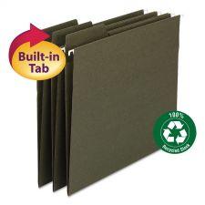Smead FasTab Hanging Folders, Letter Size, 1/3-Cut Tab, Standard Green, 20/Box
