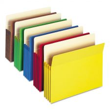 """Smead Colored File Pockets, 3.5"""" Expansion, Letter Size, Assorted, 25/Box"""