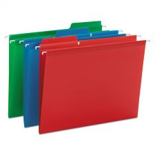 Smead FasTab Hanging Folders, Letter Size, 1/3-Cut Tab, Assorted, 18/Box