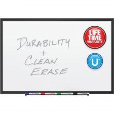 Quartet Classic Porcelain Magnetic Whiteboard, 48 x 36, Black Aluminum Frame