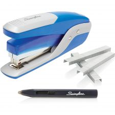 Swingline Quick Touch Stapler Value Pack, 28 Sheet Capacity, Blue/Silver