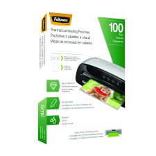 Fellowes Laminating Pouches, Letter Size, Hot Pouch, 9 x 11.5, 5 mil, 100 pack