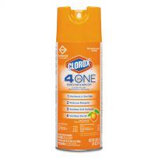 Clorox 4-in-One Disinfectant & Sanitizer, Citrus, 14oz Aerosol, 12/Carton