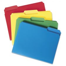 Smead Top Tab Poly Colored File Folders, 1/3-Cut Tabs, Letter Size, Assorted, 24/Box