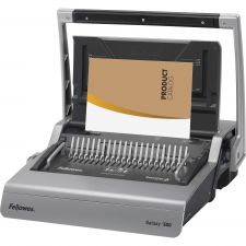 Fellowes Galaxy 500 Manual Comb Binding System, 500 Sheets, 20 7/8 x 17 3/4 x 6 1/2, Gray