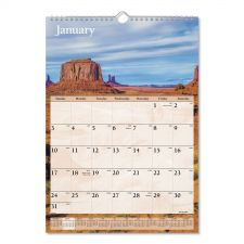 AT-A-GLANCE Scenic Monthly Wall Calendar, 12 x 17