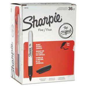 Sharpie Fine Tip Permanent Marker, Black, 36/Pack SAN1884739