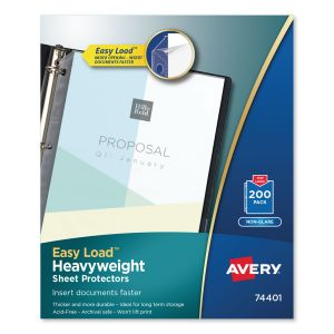Avery Top-Load Poly Sheet Protectors, Letter, Heavyweight, Nonglare, 200/Box AVE74401