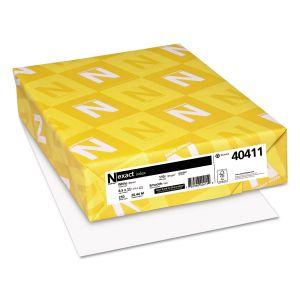 Neenah Paper Exact Index Card Stock, Smooth, 110lb, 94 Bright, 8 1/2 x 11, White, 250 Sheets WAU40411