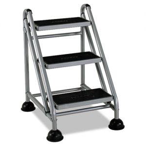 Rubbermaid 2 Step Rolling Step Stool Officesupply Com