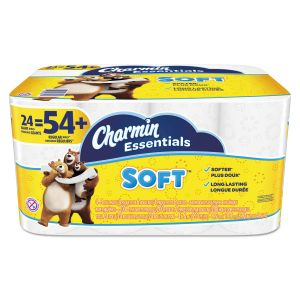 Charmin Essentials Soft Toilet Paper, 2-Ply, White, 4 x 3.92 Sheet, 200 Sheets/Roll, 24 Rolls/Pack PGC96610