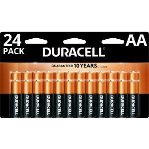 Duracell Coppertop AA Alkaline Batteries, Pack Of 24 ODFN458914