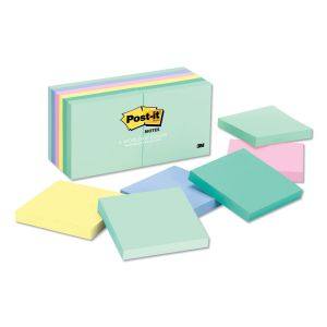 Post-it Notes Original Pads in Marseille Colors, 3 x 3, 100-Sheet, 12/Pack MMM654AST