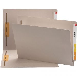 End Tab File Folders with Fasteners
