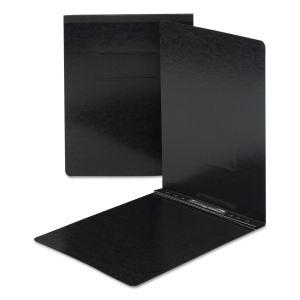 Smead End Opening Pressboard Report Cover, Prong Fastener, Letter, Black SMD81125