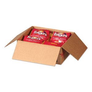Folgers Coffee Filter Packs, Classic Roast, .9 oz, 10 Filters/Pack, 4 Packs/Carton FOL06239