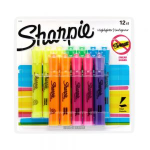 Sharpie Accent Tank-Style Highlighters, Assorted Colors, Pack Of 12 ODFN755263