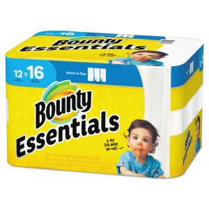 Bounty Essentials Select-A-Size Paper Towels, 11 x 5.9, 2-Ply, 83 Sheets/Roll, 12 Rolls/Carton PGC74682